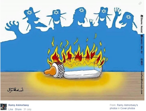 Ramy Alshorbasi - Screenshot - Cartoon - Jews laughing milk
