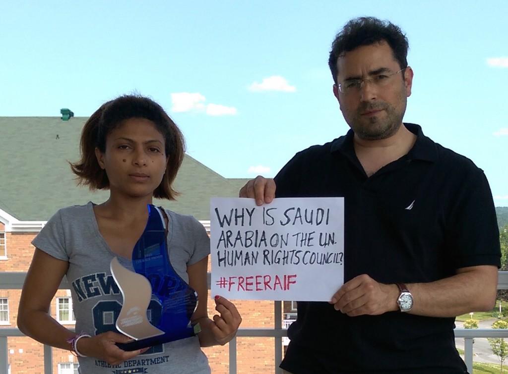 Ensaf wife of Raif Badawi and Hillel